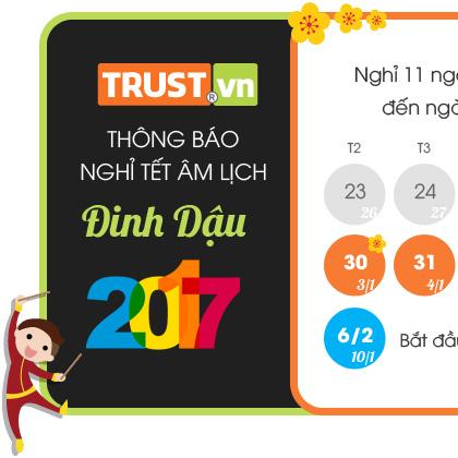 thông báo lịch nghỉ Tết Đinh Dậu 2017