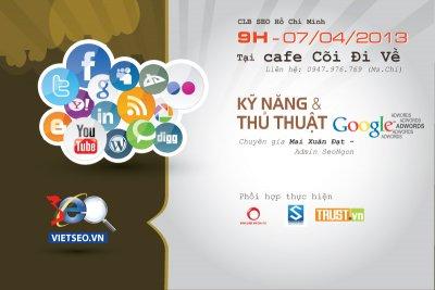 Buổi Cafe Mini - Google Adwords FREE TRAINING tại Hồ Chí Minh