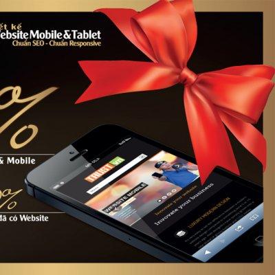Khuyến mãi thiết kế web cho di động (mobile & tablet)
