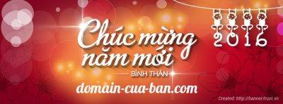 Thiết kế banner miễn phí, dịp năm mới 2016