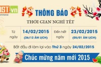 Thông báo nghỉ Tết 2015